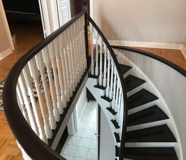White And Brown Staircase